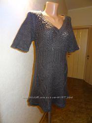 Vero Moda. Классная стильная вязаная теплая туника. Серого цвета