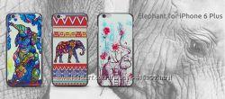 Чехол для iPhone 6 Plus и 6s Plus Слоны