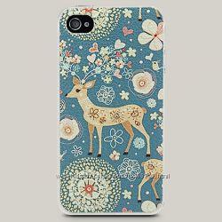 Чехол для iPhone 4 и 4s Spring Deer