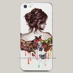 Чехол для iPhone 5 и 5s Girl and Butterflies