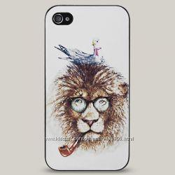Чехол для iPhone 4 и 4s Hipster Lion