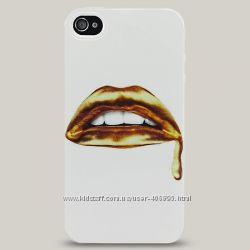 Чехол для iPhone 4 и 4s Hot Lips