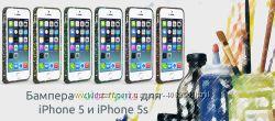 Бампер для iPhone 5 и 5s Color Spots