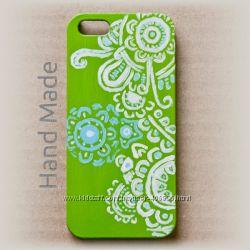 Чехол для iPhone 5 и 5s hand made Green Orient
