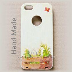 Чехол накладка ручной работы hand made для iPhone 4 и 4s Flowers in the box