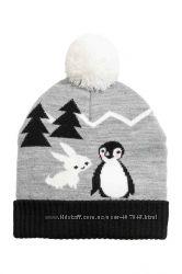 Серая шапочка для девочки от H&M