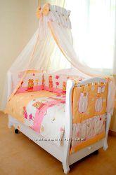 Акция Детская постель Twins Comfort 8 ед. Садовники С-007 розовое