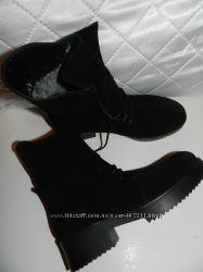 Зимние замшевые ботинки Распродажа