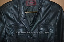 Кожаная куртка-пиджак, размер М- L