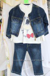 05cb6416ca1 Стильный джинсовый костюм на девочку. Турция. Размер 1 год.