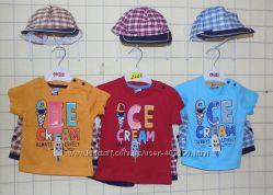 Летний комплект для малышей - кепка, футболка и шорты. Турция. 9-12 р