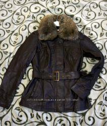 Шикарная кожаная куртка orsay состояние новой