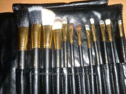 Золотая серия МАС Набор кистей для макияжа МАС 12 шт люкс