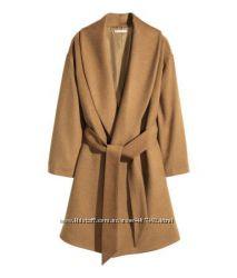 Новое красивое полушерстяное пальто H&M р. XS S