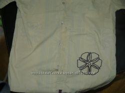 рубашка с коротким рукавом для подростка ростом на 146-156 см в школу  нов