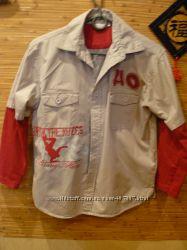 школьные рубашки на подростка ростом 145-155-164см