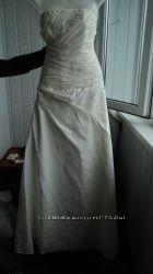Свадебное платье цвета эйвори