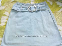 Джинсовая юбка с ременем