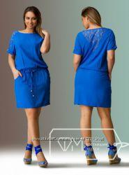 Платье 52-54 ФМ цвет электрик