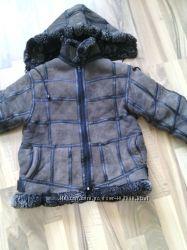 Зимняя куртка дублёнка на 3-6 лет