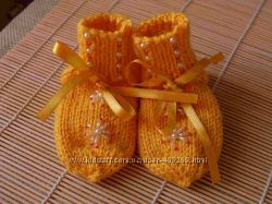 вязаные носочки и варежки на заказ