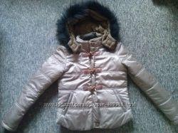 Стильная куртка с натуральным мехом