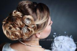 Свадебное украшение. Серебристый цветок