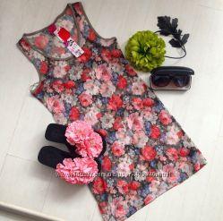 Цветочная туника-платье