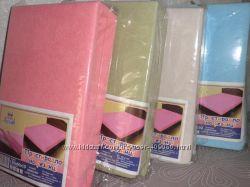 Детские махровые простынки на резинке 120х60