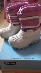 Очень теплые непромокаемые сапожки на девочку Chicco 21 -22размер на зиму