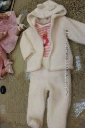 Тепленький комплект-тройка Мишка для девочки  Osh-KoshСША 3 мес 6 мес