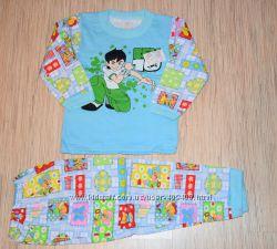 Теплая пижама начес для мальчика 60 размера 104-110см УКРАИНА