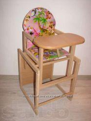Детский деревянный стульчик стул для кормления. Разные расцветки.