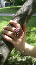 Кольцо цветок сияние радуги