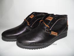 Мужские  ботинки на цигейке и байке