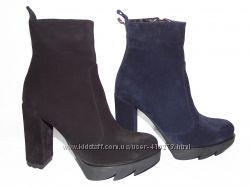 Шикарные замшевые демисезонные ботинки,  распродажа