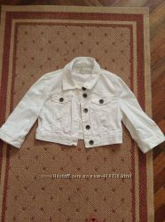 Джинсовая курточка укорочённая белая