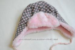 Красивая нежная теплая шапка