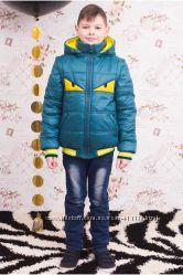 В наличии демисезонные курточки-жилетки для мальчиков, рост 110-140