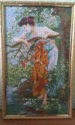 Картина ручная вышивка