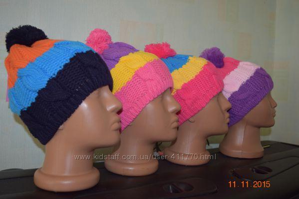 Шерстяные шапочки, осень. На возраст 2-8лет Подойдут как девочкам так