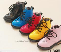 Стиляжные лакированные ботинки dr. Martens