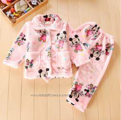 Пижамки теплые для девчонок