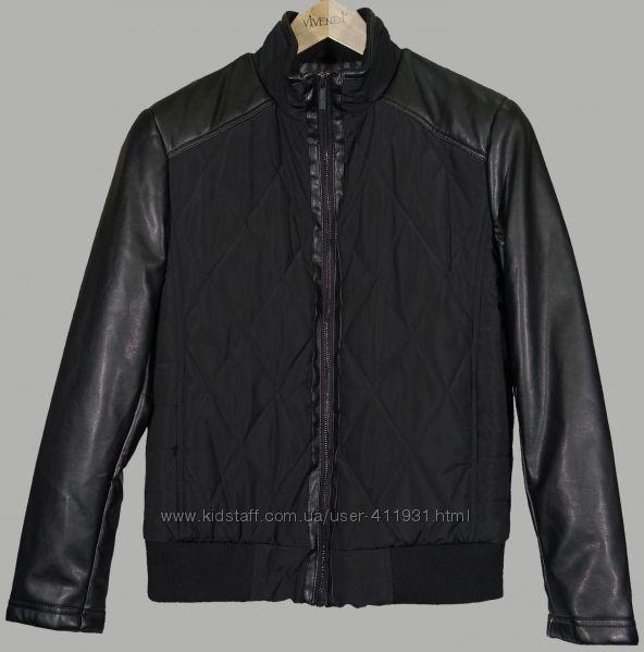 Куртка Kenneth Cole рукава кожзам М