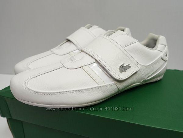 Кожаные кроссовки Lacoste оригинал 43