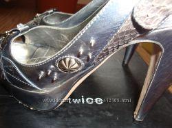 Шикарные итальянские туфли twICE, Италия, кожа