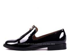Лоферы туфли натуральная лак кожа