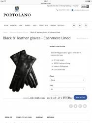 Перчатки Portolano размер 6, 5 тёплые черного цвета снизила цену