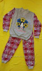 Класные пижамки с начесиком Тачки, Микки, Маша, Украиночка