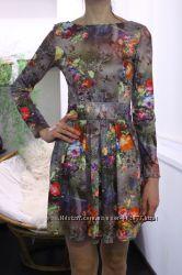 Цветочное платье. Б-у.